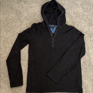 Forever 21 Men's black hooded sweater. Size XS